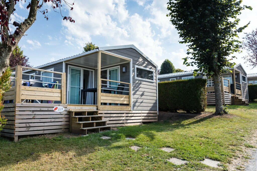 mobil-homrd cottage du camping la Vallée