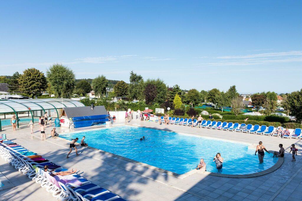 piscine du camping la Vallée en Normandie